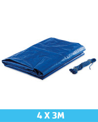 Gardenline Tarpaulin 4 x 3m - Blue