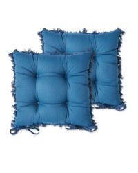 Belavi Tassel Seat Pads 2 Pack - Blue
