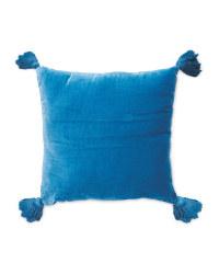 Kirkton House Tassel Cushion - Blue