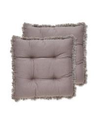Tassel Seat Pads 2 Pack - Charcoal