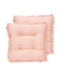 Tassel Seat Pads 2 Pack - Pink