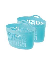 Teal 50L Flexi Laundry Tub 2 Pack