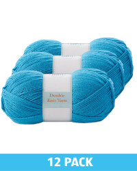 Teal Double Knitting Yarn 12 Pack