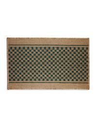 Teal Green Checker Kitchen Mat