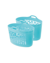 Teal Laundry Tub 2 Pack