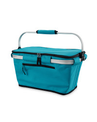 Teal One-Handle Shopping Basket