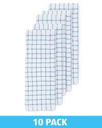 Teal Terry Tea Towels 10 Pack