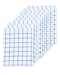 Blue Terry Tea Towels 10 Pack