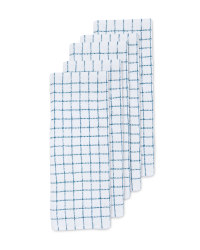 Teal Cotton Terry Tea Towels 5 Pack