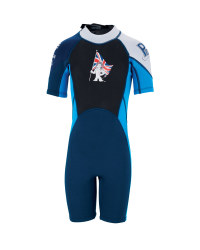 Team GB Children's Shorty Wetsuit - Blue