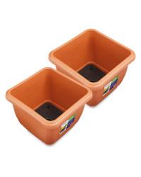 Terracotta Self Watering Pot 2 Pack