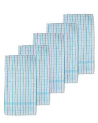 Terry  Tea Towels 5-Pack - Blue