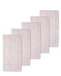Terry  Tea Towels 5-Pack - Pink