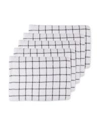 Terry Tea Towels 5 Pack - Black