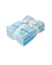 Terry Tea Towels 5 Pack - Blue