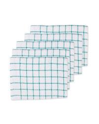 Terry Tea Towels 5 Pack - Emerald