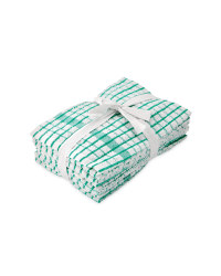 Terry Tea Towels 5 Pack - Green