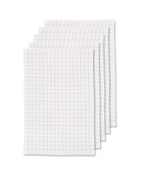 Terry Tea Towels 5 Pack - Light Grey