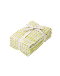 Terry Tea Towels 5 Pack - Lime