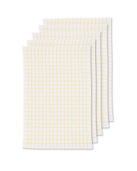 Terry Tea Towels 5 Pack - Yellow