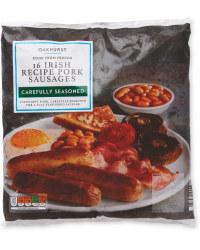 Thick Irish Recipe Pork Sausages