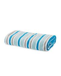 Thin Stripe Bath Towel - Blue & Grey