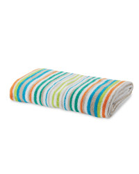 Thin Stripe Bath Towel - Orange & Green