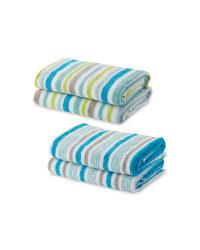 Thin Stripe Hand Towel 2 Pack
