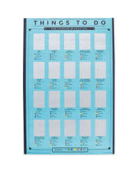 Things To Do  Scratch Poster