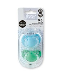 Tiggy 0-6 Months Green Soothers