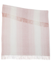Kirkton House Tonal Weave Throw - Dusky Pink