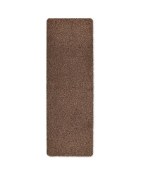 Microfibre Washable Runner - Brown
