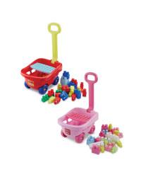 Toy Trolley with Bricks