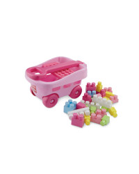 Toy Trolley with Bricks - Pink