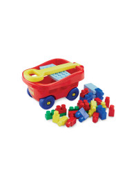 Toy Trolley with Bricks - Red