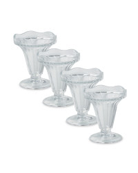 Traditional Sundae Glass 4-Pack