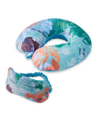 Map Travel Pillow and Eye Mask