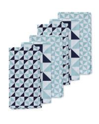 Triangle Print Tea Towels 6 Pack