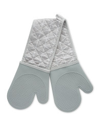 Grey Silicone Double Oven Glove