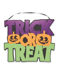 Trick or Treat Foam Sign