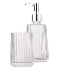 Tumbler & Soap Dispenser Stripe Set