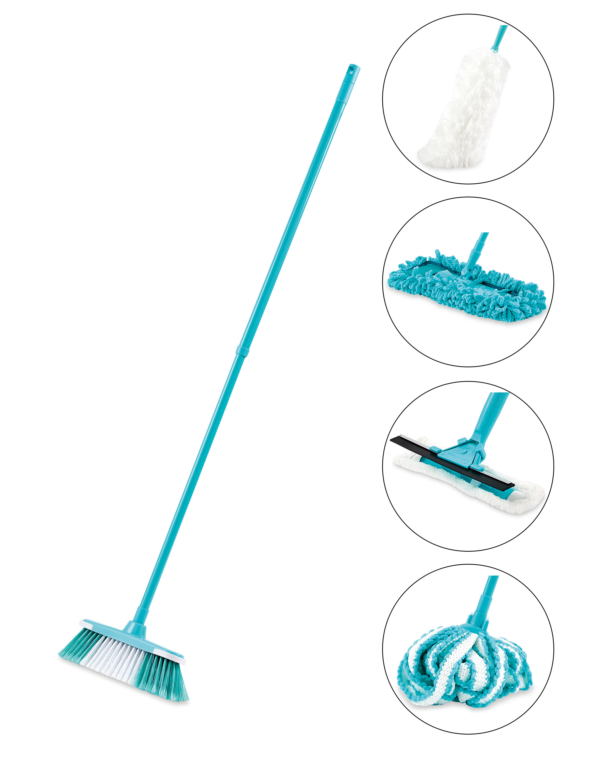 Turquoise Multi Head Cleaning Tool