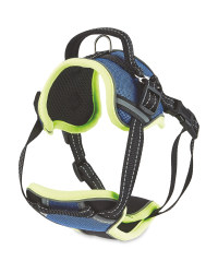 Blue Reflective Trim Dog Harness