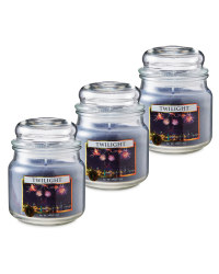 Twilight Glass Jar Candle 3 Pack
