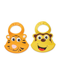 Nuby Silicone Animal Bibs 2-Pack