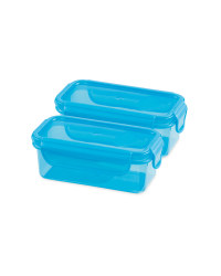 Twin Snack Container - Blue