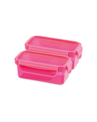 Twin Snack Container - Pink