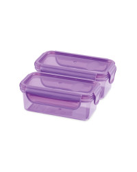 Twin Snack Container - Purple