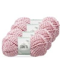 So Crafty Twisted Fancy Yarn 4-Pack - Pink