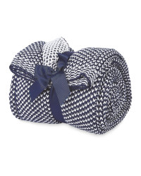 Kirkton House Two Tone Throw - Blue